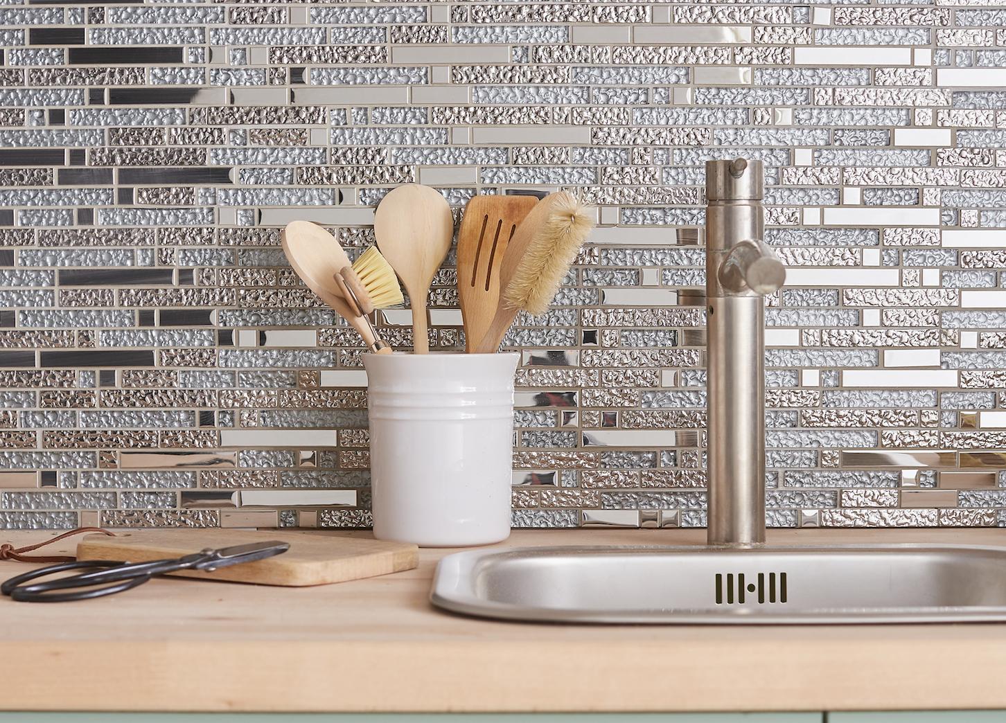 Mur de cuisine en mosaïque